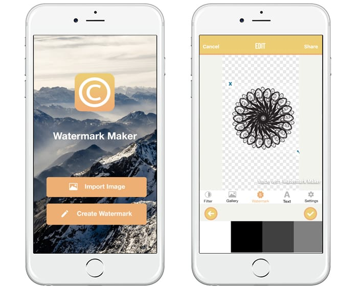 watermark apps for iphone