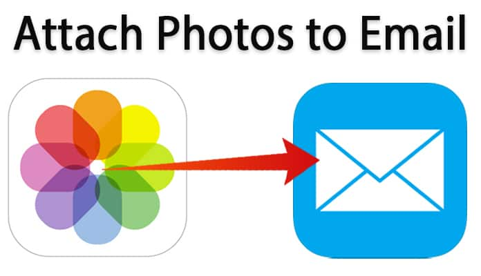 how to attach photos to email on iphone
