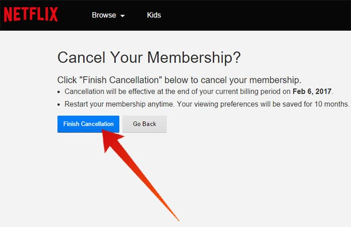 netflix unsubscribe