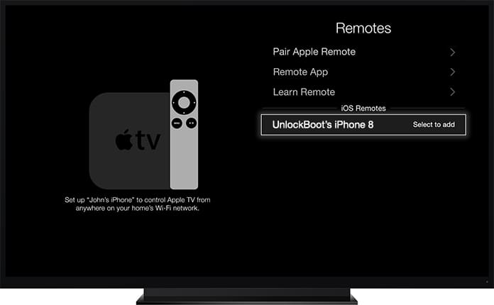 apple tv remote app