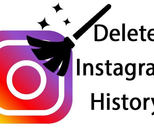 delete Instagram search history