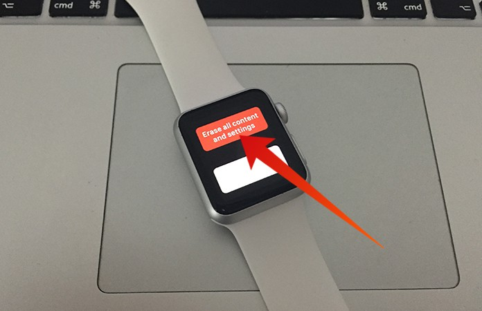 erase apple watch without passcode