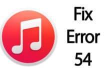 itunes error 54