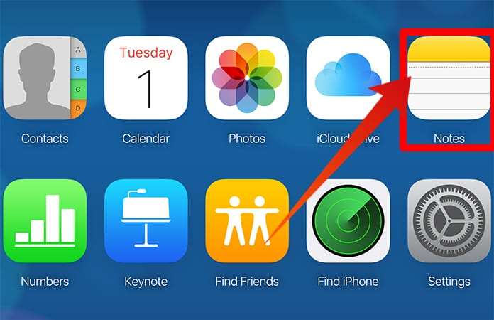 how to download notes from icloud to pc