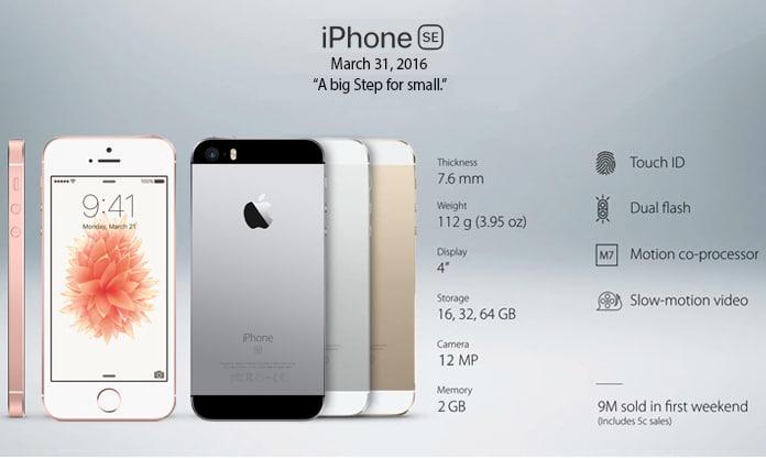 list of all iphones models