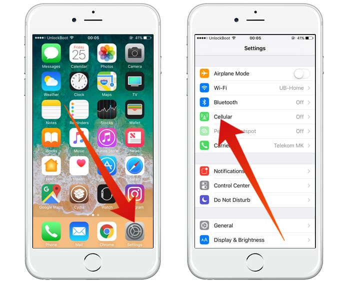 reset cellular data usage on iphone