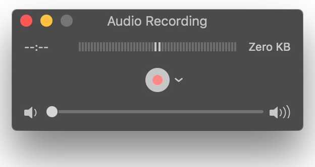 record sound on mac