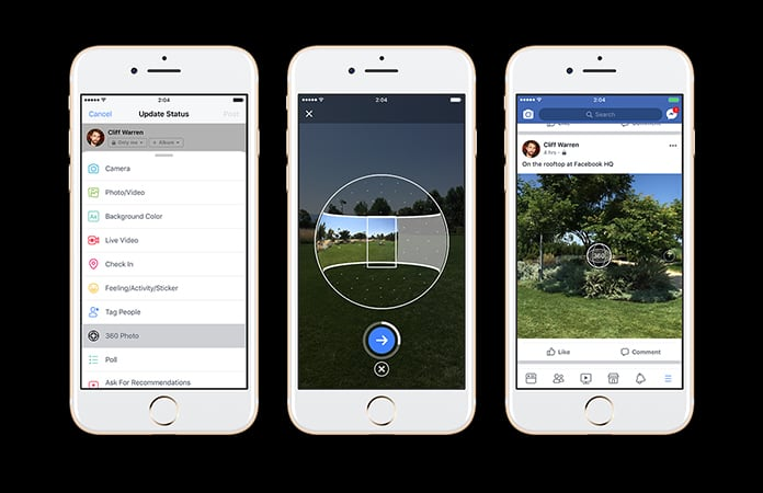 How to take 360 degree photos in Facebook