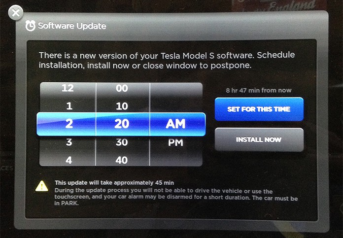update tesla software