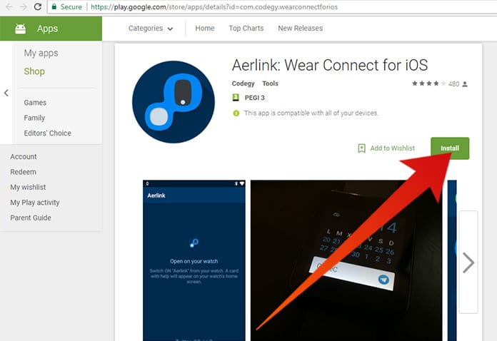 pair android wear with iphone