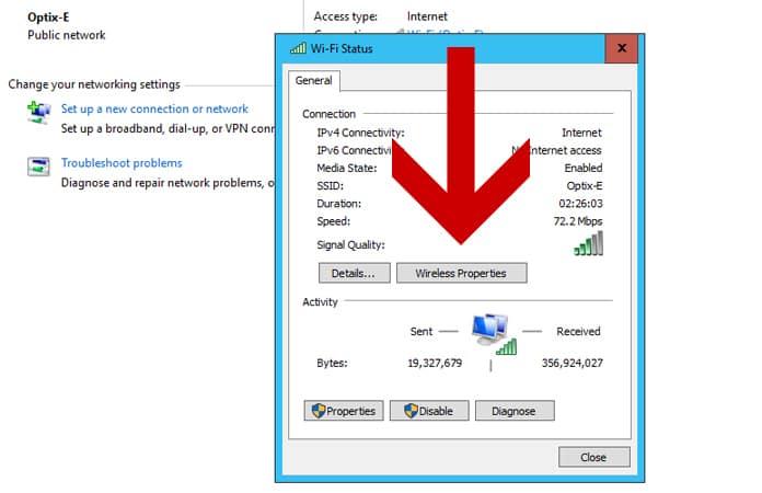 see wifi password in windows 10