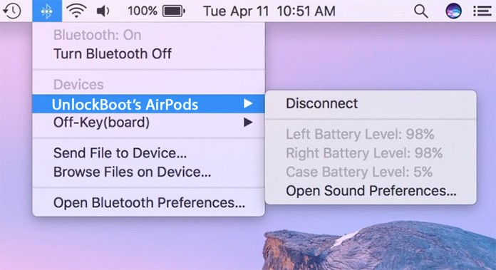 airpods battery check