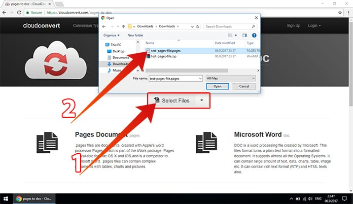 How to Open Pages File on Windows 10/8/7 PC Using Word