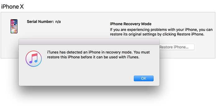 iphone x recovery mode