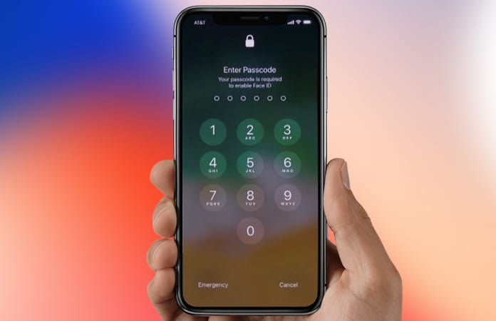 disable face id on iphone x