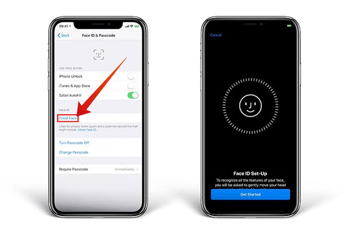 remove face id on iphone x