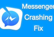 facebook messenger crashing on iphone