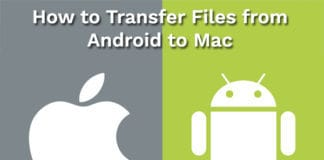 transfer files from android to mac