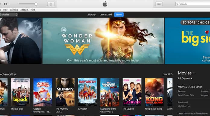 rent movies from itunes