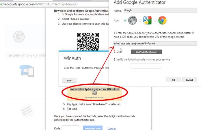 google authenticator chrome