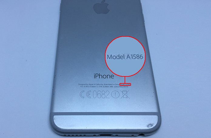 find iphone model number