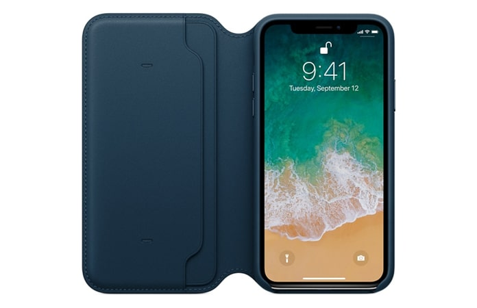 iphone x leather folio case