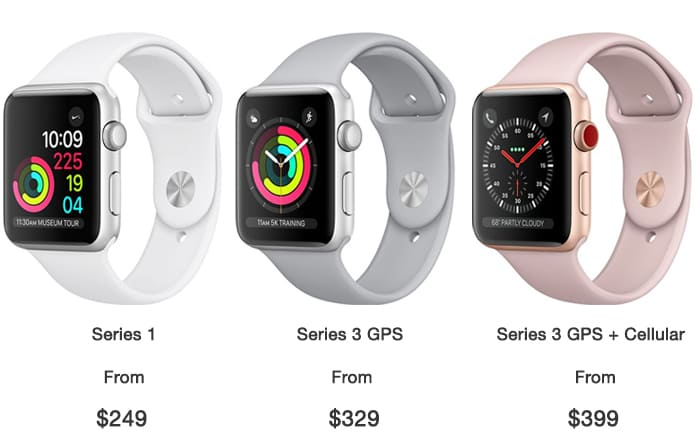 apple watch 3 price