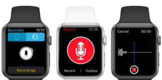 voice recorder apps for apple watch