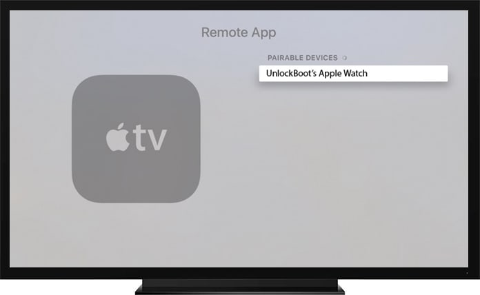 connect apple watch with apple tv