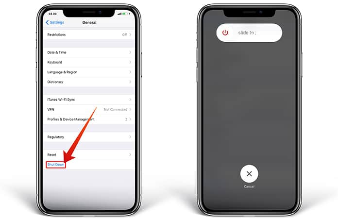 reset face id on iphone