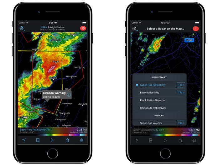 weather radar app for iphone