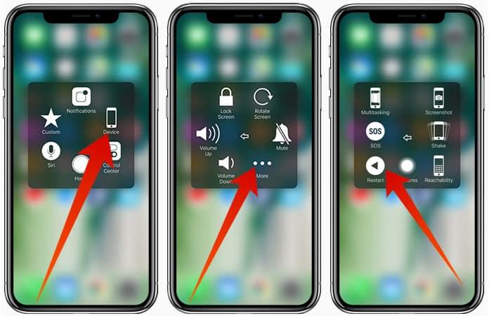 reboot iphone 8