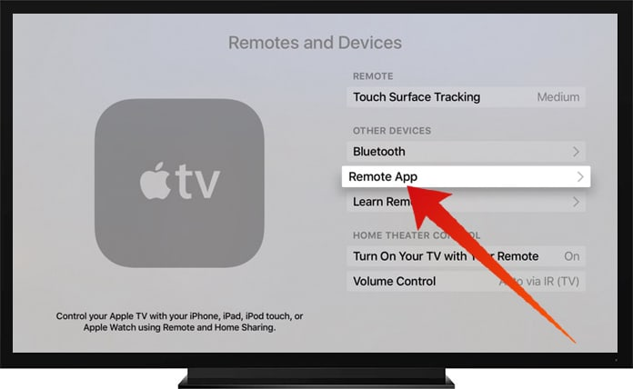use apple watch as apple tv remote control