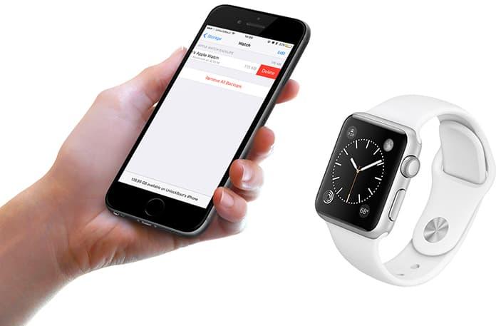 delete apple watch backup
