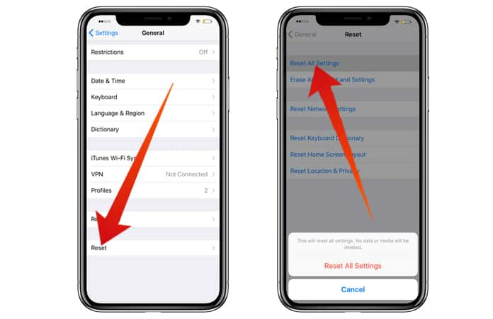 fix iphone x face id error