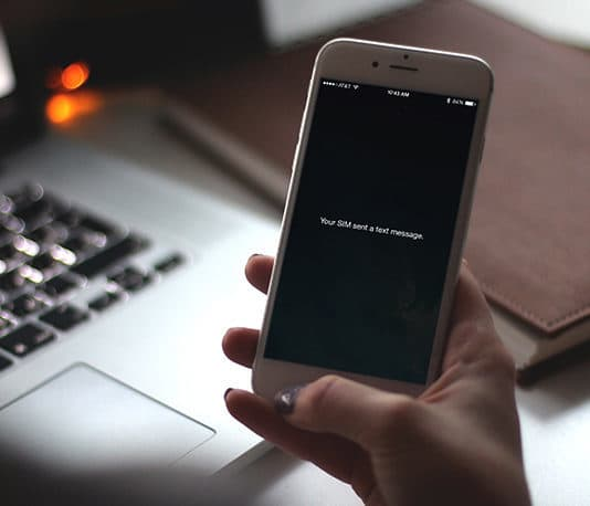 your sim sent a text message