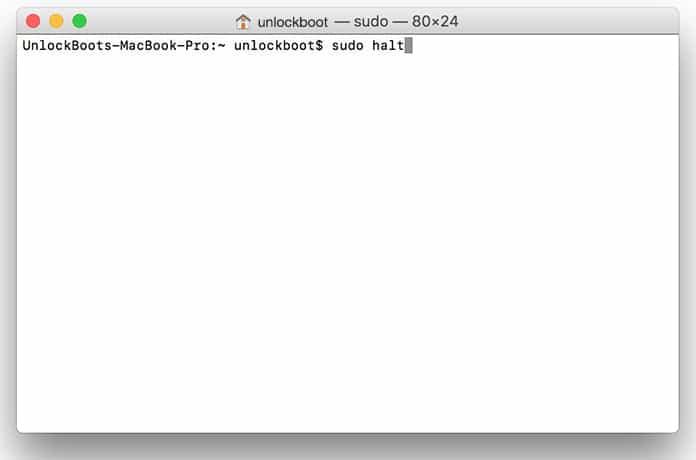 mac shutdown command