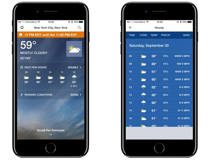 tv forecast app alternative