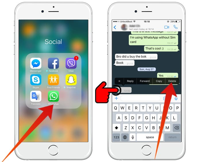 delete whatsapp chat history
