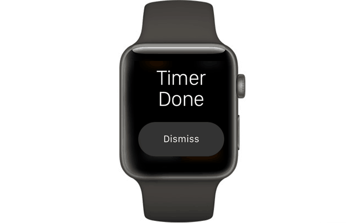 set timer on iwatch