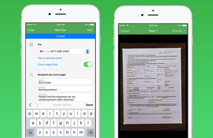 how to fax from iphone