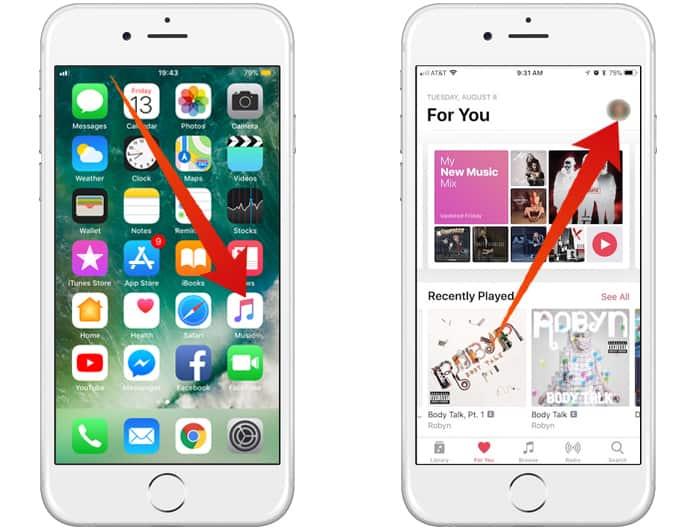 create apple music profile on iphone