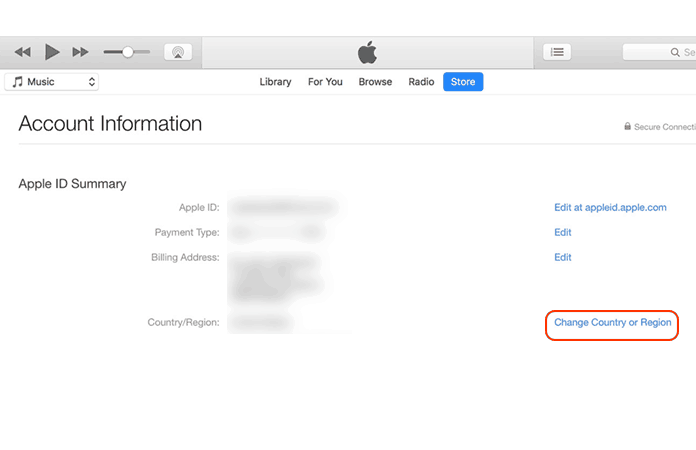 change apple id country without card