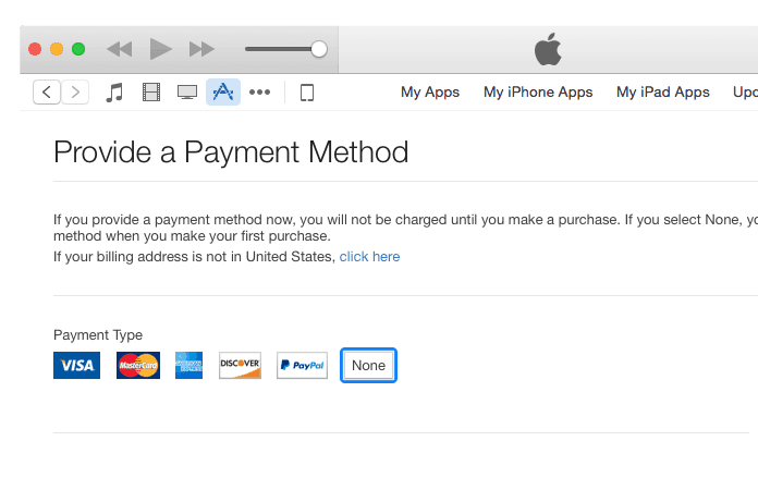 change apple id region without credit card