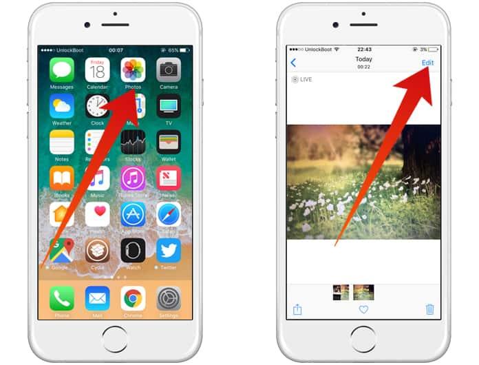convert iphone live photos to still