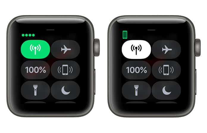 disable cellular data on apple watch