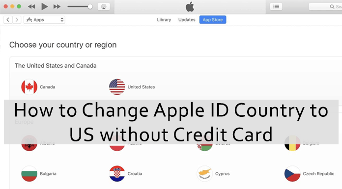 change apple id country to us