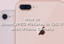 Shoot JPEG Pictures in iOS 11