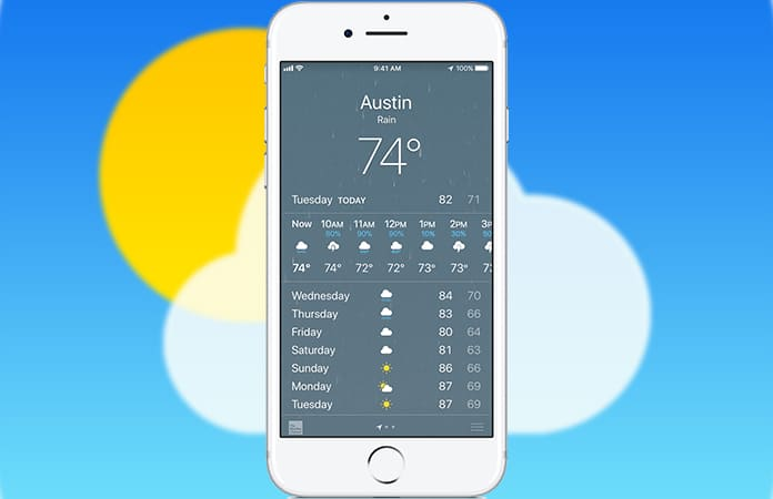change weather from fahrenheit to celsius on iphone