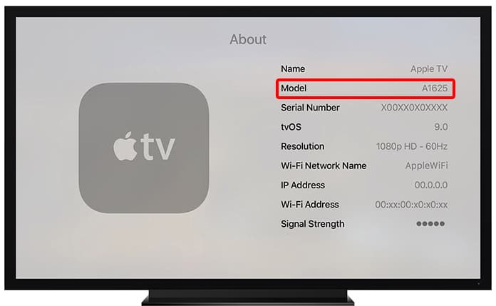 identify apple tv generation